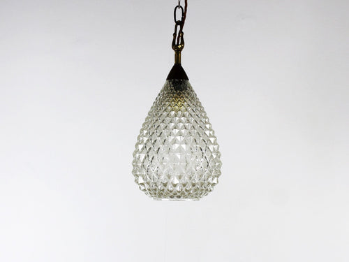 A 1940's Murano faceted glass pendant light