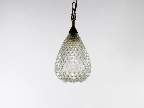 Murano 1940's faceted glass pendant light