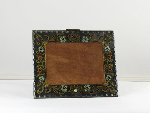 A charming hand painted mirror picture frame