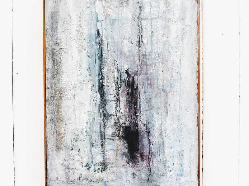 A 1960's Grey Tone Abstract by French Artist Odette Buvat