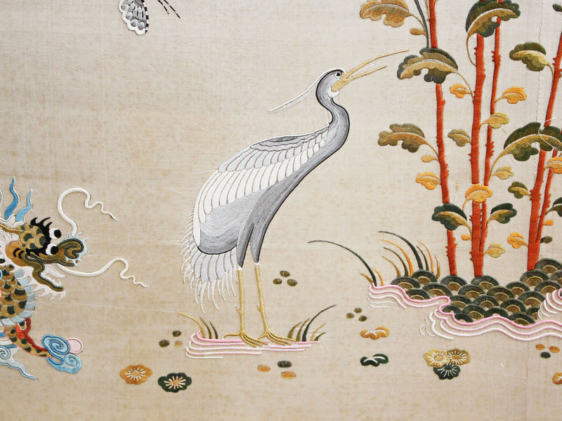 An Exceptional Large Antique Chinese Silk Embroidery