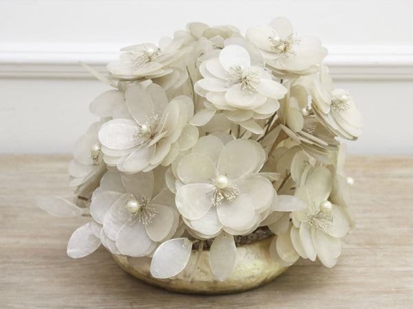 An Antique French Mother Of Pearl Floral Centrepiece Bouquet