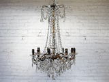 Antique French Late 19th Century Crystal Chandelier