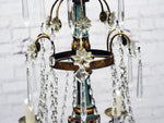 A 1950's Painted Italian Crystal Chandelier