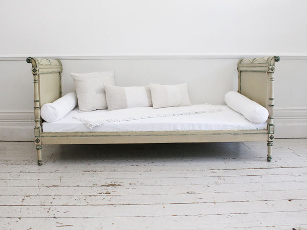 A 19th Century French Antique Painted Daybed with Original Paint