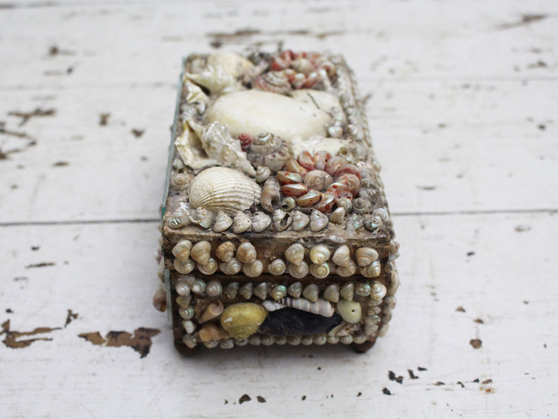 A Decorative Antique Shell Covered Box 3 of 4