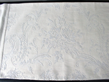 Bolsters - Antique French Cornely Embroidery on Linen Bolster by Charlotte Casadéjus