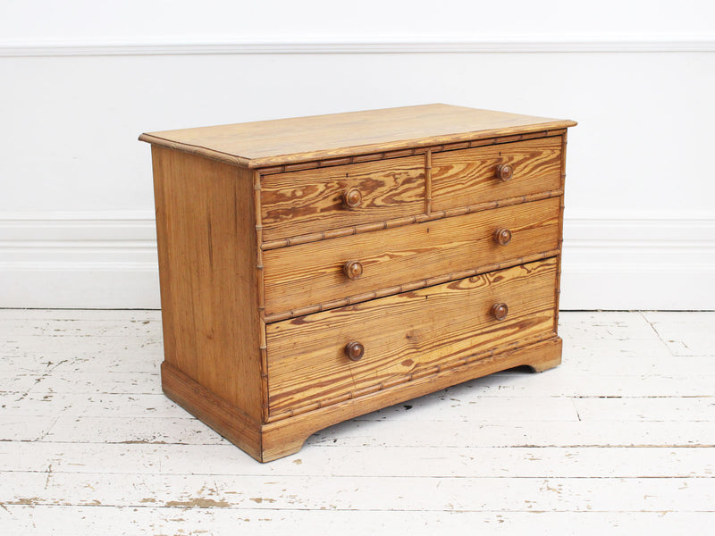 A Howard and Sons Oregon Pine Chest of Drawers Circa 1870