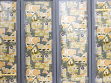 A Set of Six Framed Antique Japanese Silk Obi Wall Panels