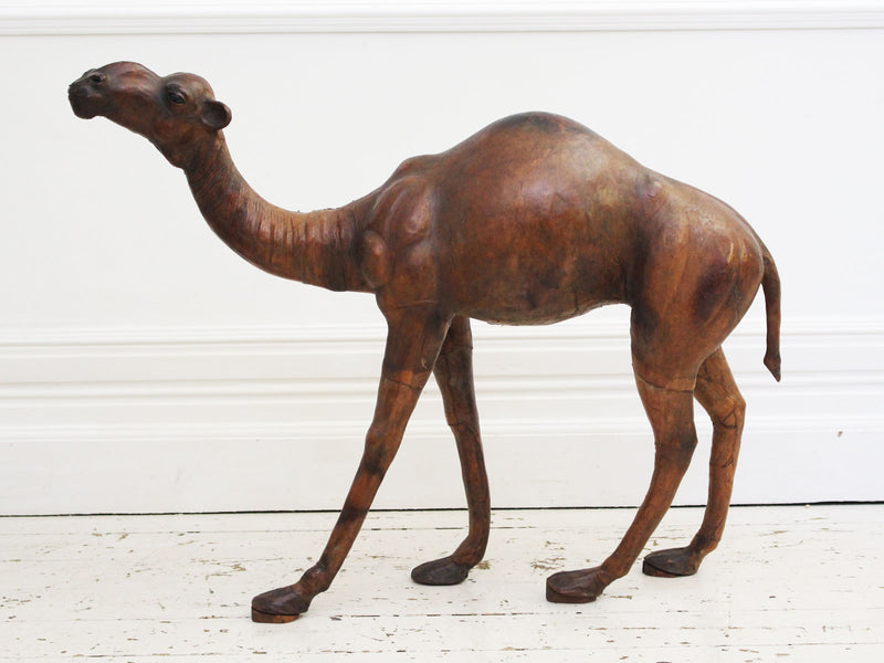 A Charming Early 20th C Liberty Childs Leather Camel
