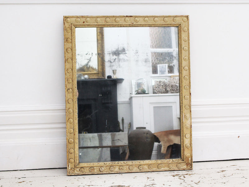 An Regence Period Mercury Mirror with Original Paint and Plate