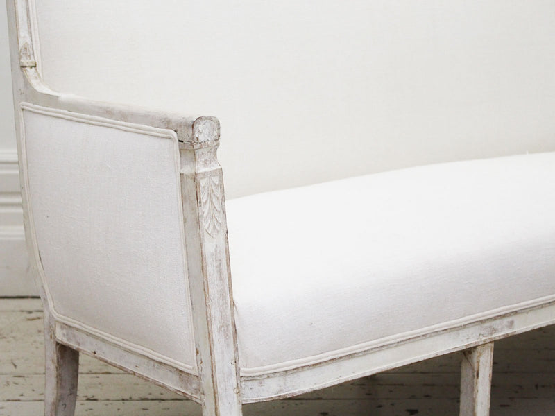An Antique French Directoire White Painted Sofa
