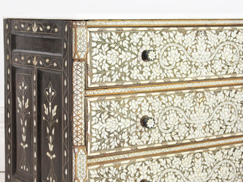 A 19th Century Syrian Commode with Mother of Pearl & Bone Inlay