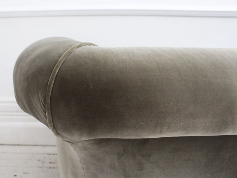 A 19th Century Small Chesterfield Sofa with Velvet Upholstery