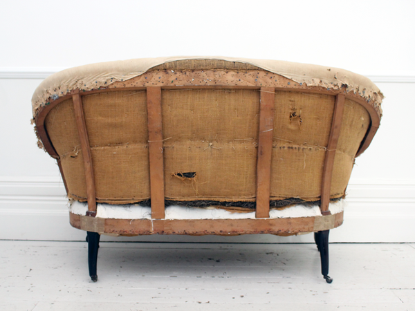Astonishing An Antique French 19Th Century Sofa With Curved Back Home Remodeling Inspirations Genioncuboardxyz