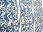 A Triptych of Framed Early 19th C French Blue Patterned Wallpaper