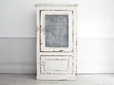 Antique White Painted French Cupboard with Mesh Front