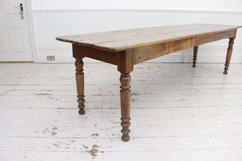 A Large 19th Century French Walnut Table from Bistrot