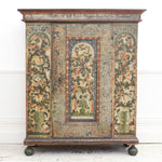 An 18th C Hand Painted Marriage Armoire from Alsace Lorraine - Dated