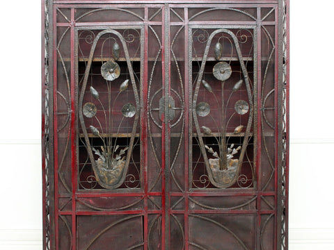 A 1930's Decorative Metalwork Art Deco French Cupboard