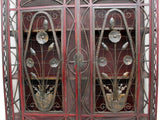 A 1920's Decorative Metalwork Art Deco French Cupboard