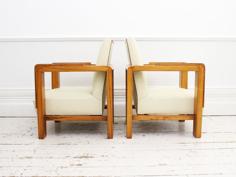 A Pair of Iconic Art Deco Armchairs by Lajos Kozma