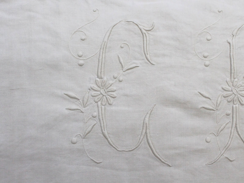 C Small Bolster - Antique French 'C' Monogram PR89