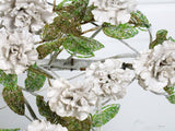 A Very Original Early 20th C Ceramic Floral and Beaded Leaf Wreath