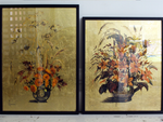 Wonderful Still Life on Gold Leaf Painting in Black Frame 2 of 2