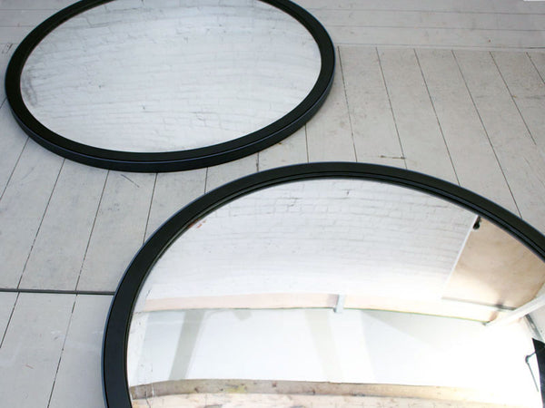 A Very Large Mid Century Czechoslovakian Convex Mirror