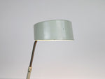 A 1960's French Jumo green blue enamelled desk light