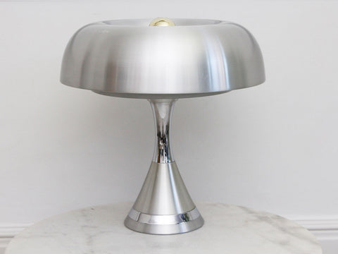 A Huge 1960's Cut Glass Table Lamp