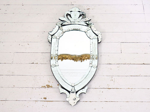 A large 19th Century Venetian mirror