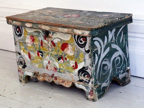 An early 20th Century Painted Provençal chest