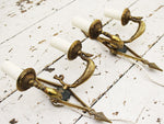 A Pair of French Empire Revival Brass Wall Sconces