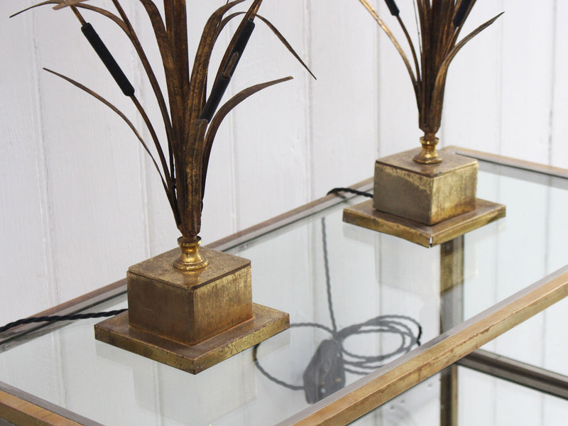 A Pair of Wheatsheaf Table Lamps in the style of Bages