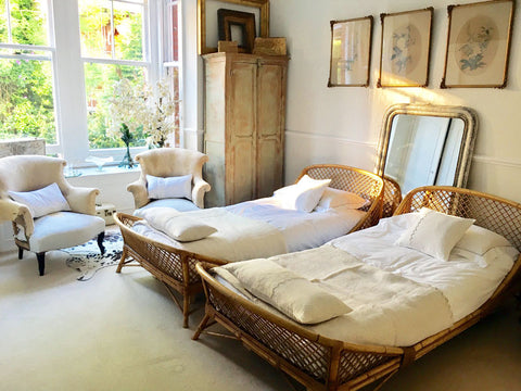 Beds Antique French Rattan Beds