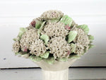 A Delightful Pair of Late 19th C Ceramic Hydrangea Bouquets