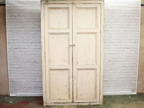 A Late 19th Century Painted Cotton Mill Linen Cupboard