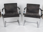 Brno Chrome Flat Bar Armchairs By Ludwig Mies Van Der Rohe For Fasem