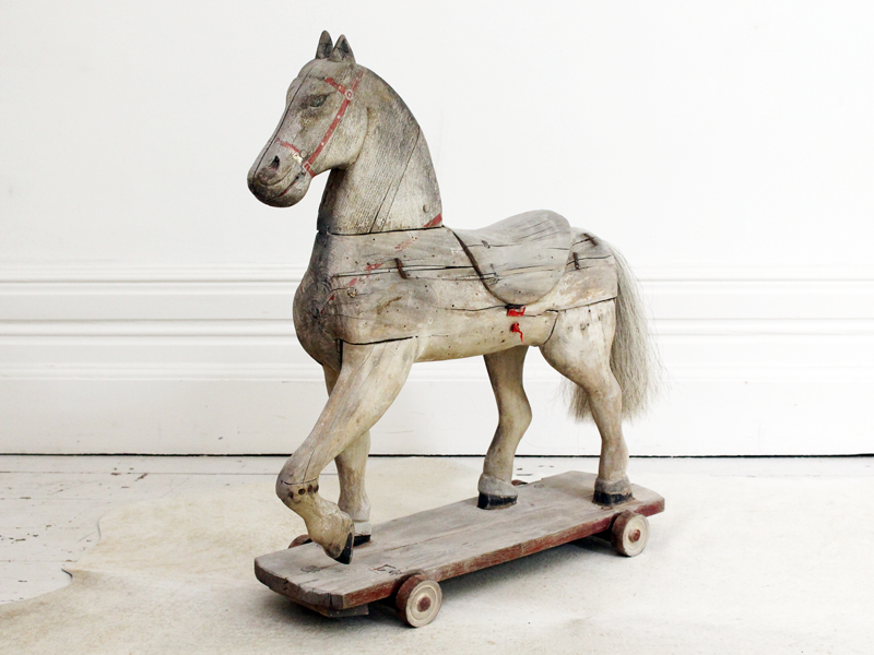 Charming 19th Century Swedish Childs Toy Horse