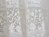 A Large Pair of Exquisite Antique Hand Made French Lace French Curtains