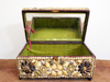 A Napoleon III Shell Covered Jewellery Box