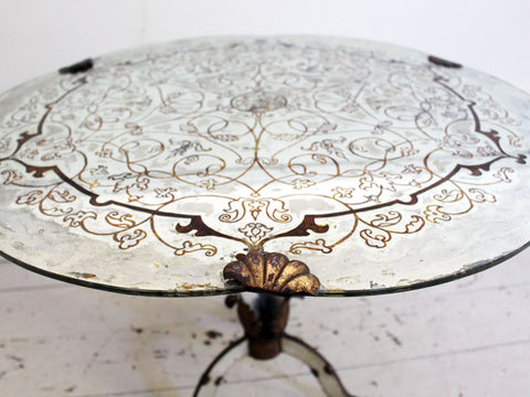A 1930's French Eglomisé Mirrored Side Table