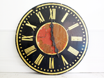 Very Large French 1920's Painted Metal Clock Face