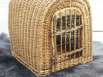 A Charming 1920's Wicker Cat or Small Dog Carrying Basket