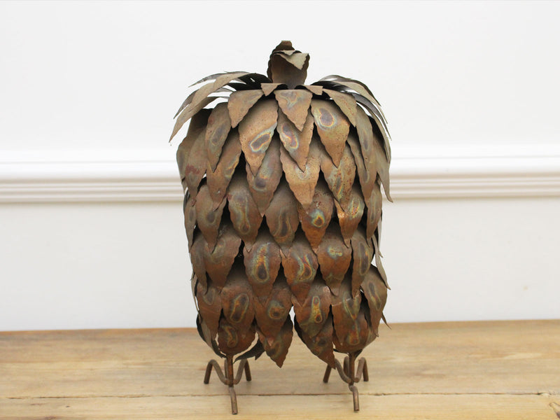 A 1960's French Brutalist Brass Owl Sculpture in the style of Curtis Jere