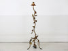 A rare and beautiful vintage French toleware rose & leaf floor lamp