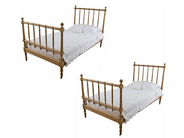 Pair of 19th Century French Single Beds by A. Bastet, Lyon, France