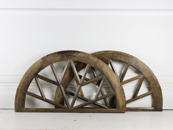 Pair of Oak Medium Elliptical Window Arches